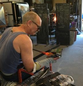 Glenn Howlett at work.