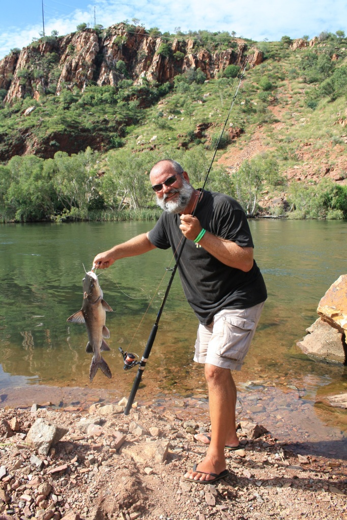 Silver cobbler fishing