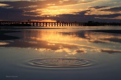 sunset at Moonta Bay