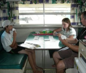 family games in the van