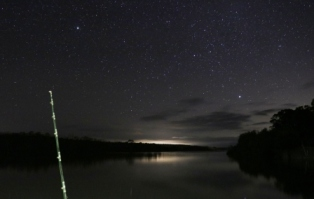 Fishing under a million stars.