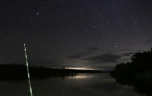 Fishing under a million stars.