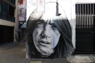 Malcom Young street art