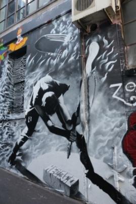 laneway art Melbourne