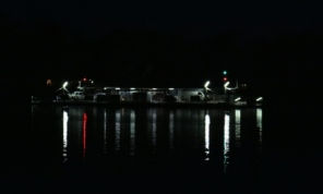 Mannum ferry at night