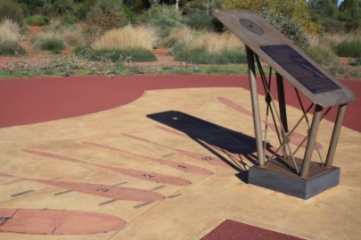 sundial at Arid Lands Botanic Garden
