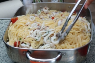 Blue swimmer crab linguine