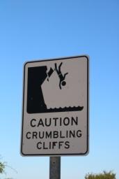 crumbling cliffs