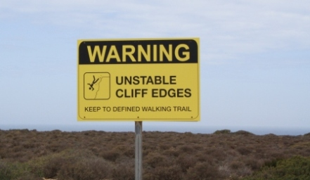 unstable cliffs