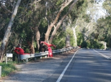 roadside Santa