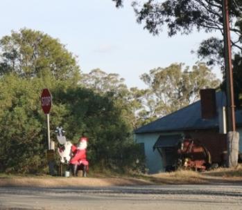 milking Santa