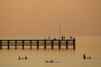 jetty at sunset