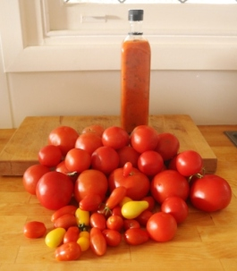 home grown tomatoes