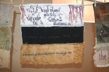 poetry on fabric