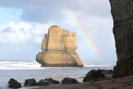 Gibson Beach rainbow
