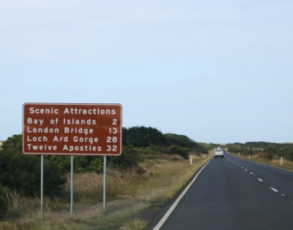 scenic Great Ocean Road