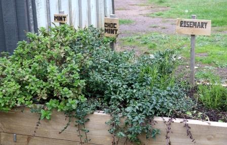 caravan park herb garden