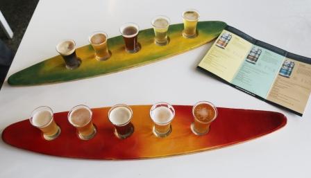 beer tasting paddle