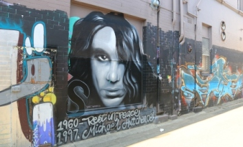 Michael Hutchence street art