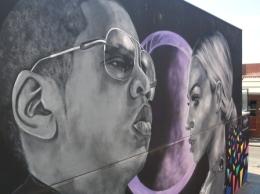 Beyonce & Jay Z mural