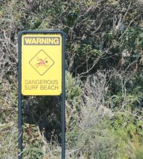 dangerous surf beach