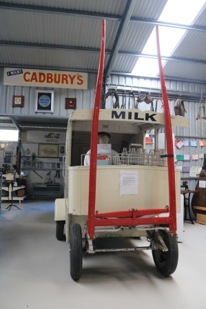 horse drawn milk van