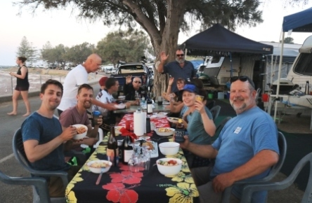 caravanning shared meals