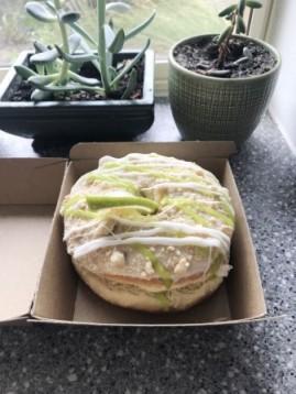 Key lime cheesecake donut