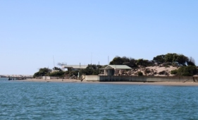Coorong fishing shacks