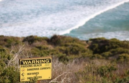 Parsons Beach danger