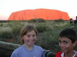 Uluru with kids