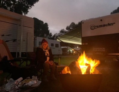 caravans and campfire