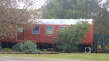 Red Hen train carriage