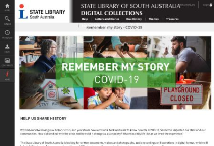 State Library of SA Covid collection