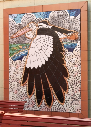 pelican mosaic Goolwa