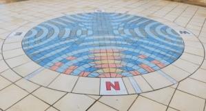 Clayton Bay compass mosaic