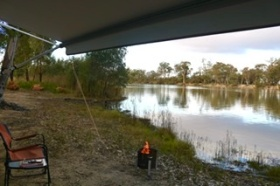 Free camping on the Murray