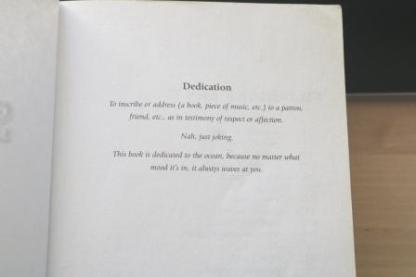 book dedication