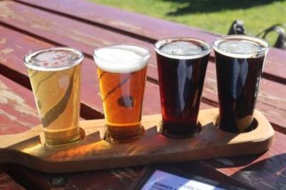 micro brewery tasting paddle