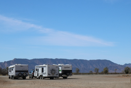 Caravans and Flinders Ranges