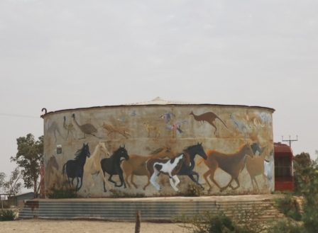 water tank art Marree