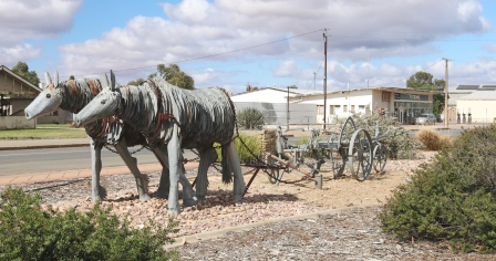 Orroroo metal sculptures