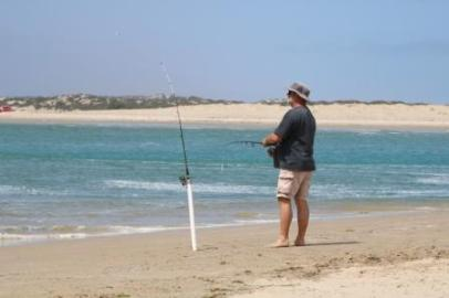 Fishing at the Murray Mouth