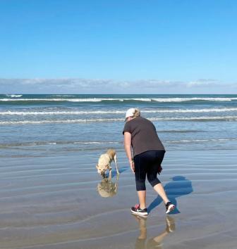 daily beach walks