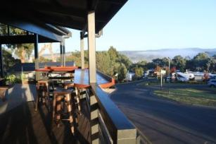 caravan park dining with a view